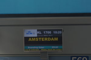 KLM 1700出発ゲート