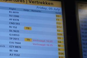 アムステルダム、スキポール空港