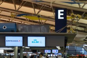 関西空港KIX出発ロビーKLM