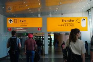 アムステルダム空港乗り継ぎ