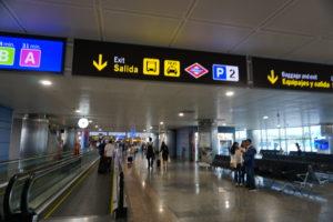 マドリード、バラハス空港到着