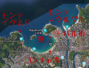 サンセバスティアンの地図