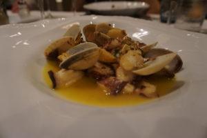 サンチアゴのパラドールの夕食