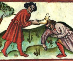 カインとアベルの15世紀の絵