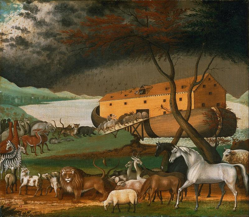 ノアの箱舟、動物たちの乗船