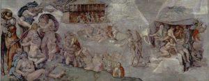 システィーナ礼拝堂の大洪水の天井画、ミケランジェロ