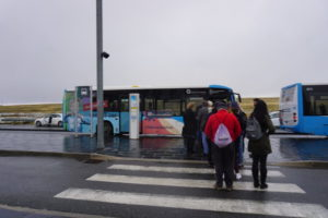 セゴビアの新幹線駅からのバス